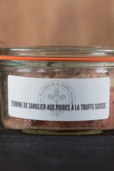 Terrine de sanglier aux poires à la Truffe Suisse